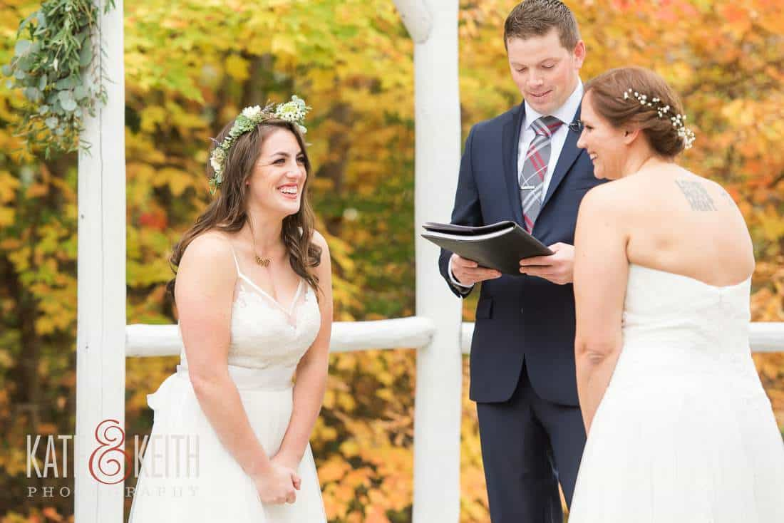 Fall Waterville Valley Resort Wedding Ceremony Location