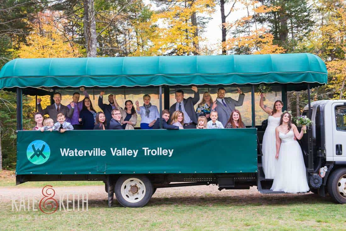 Waterville Valley Wedding Trolley