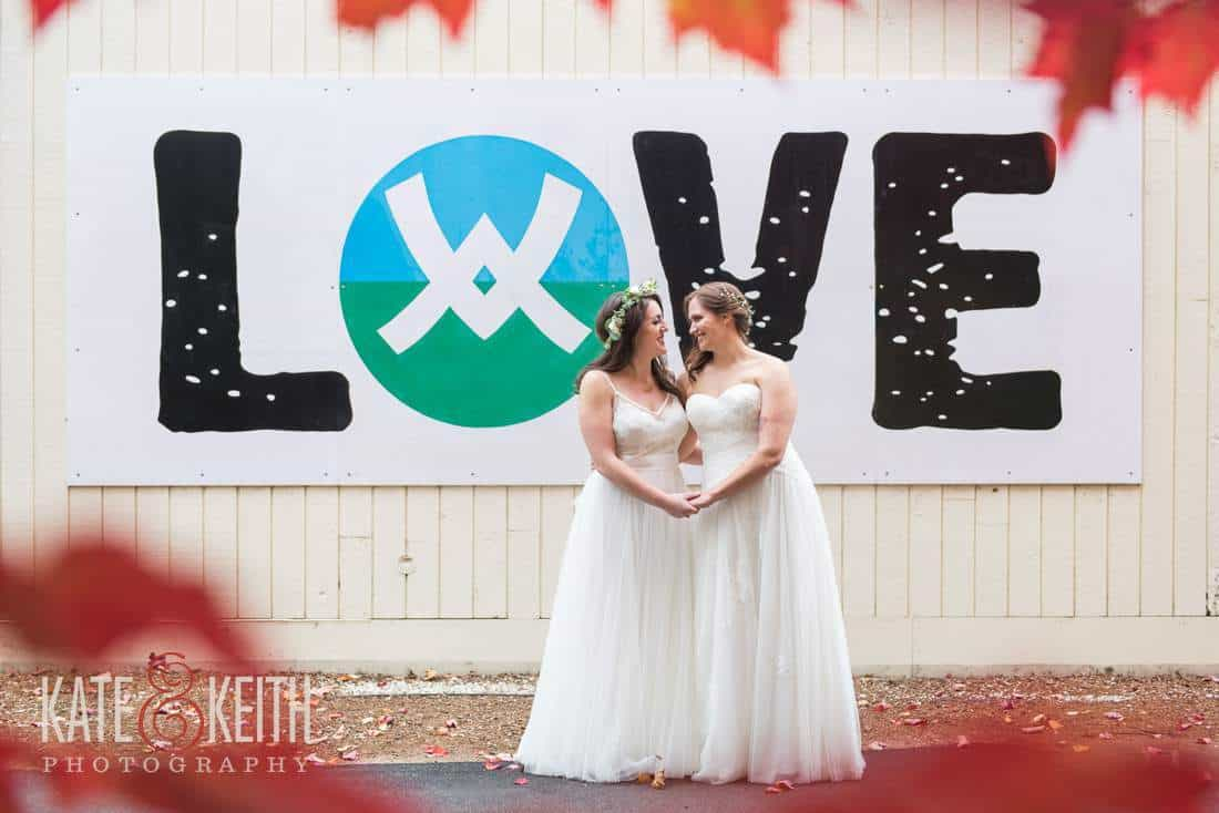 Waterville Valley Love Wedding Same Sex Lesbian Wedding Brides