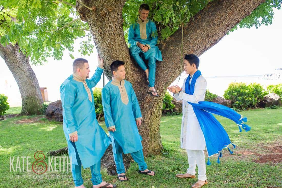 Casual groom formals