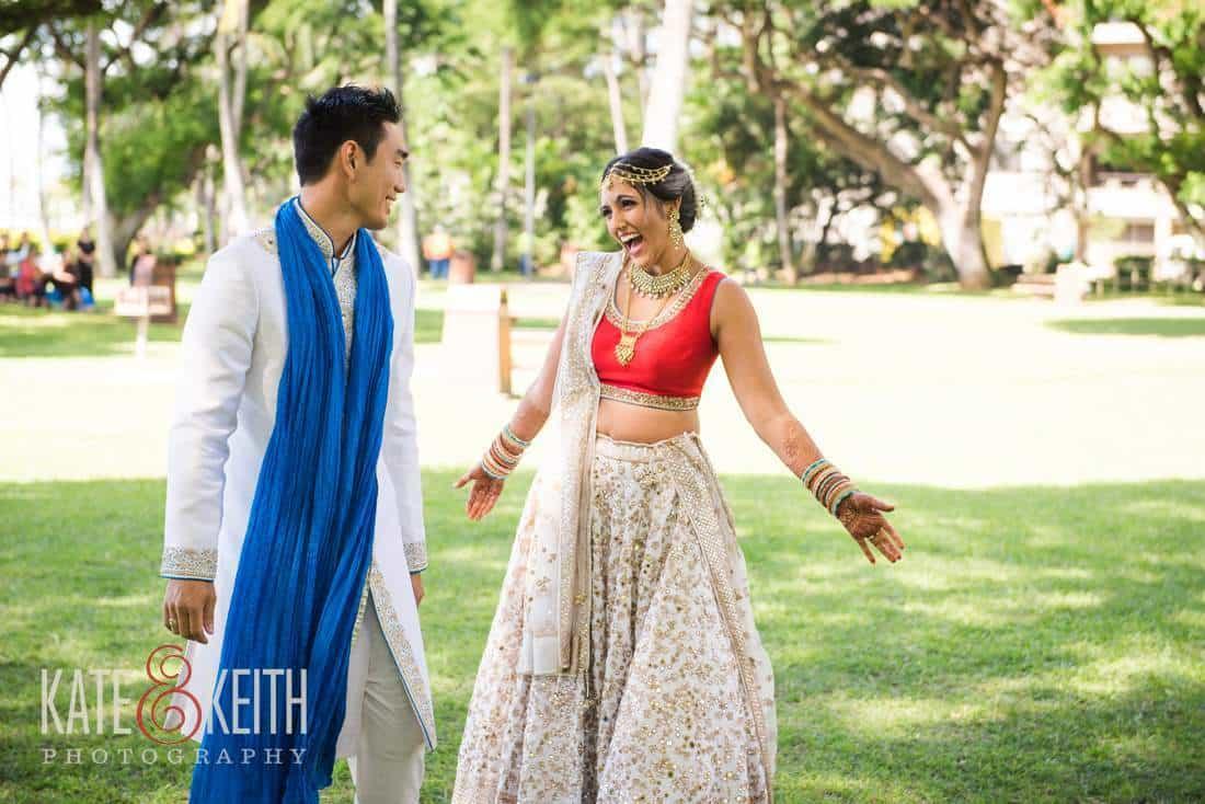 Hawaii wedding photography with indianjapanesekorean culture hawaii wedding first look photography junglespirit Gallery