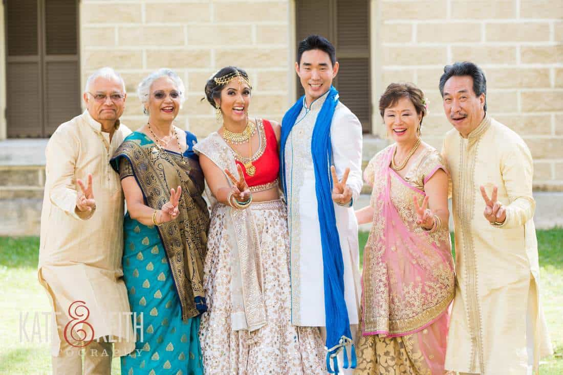 Blended cultures wedding