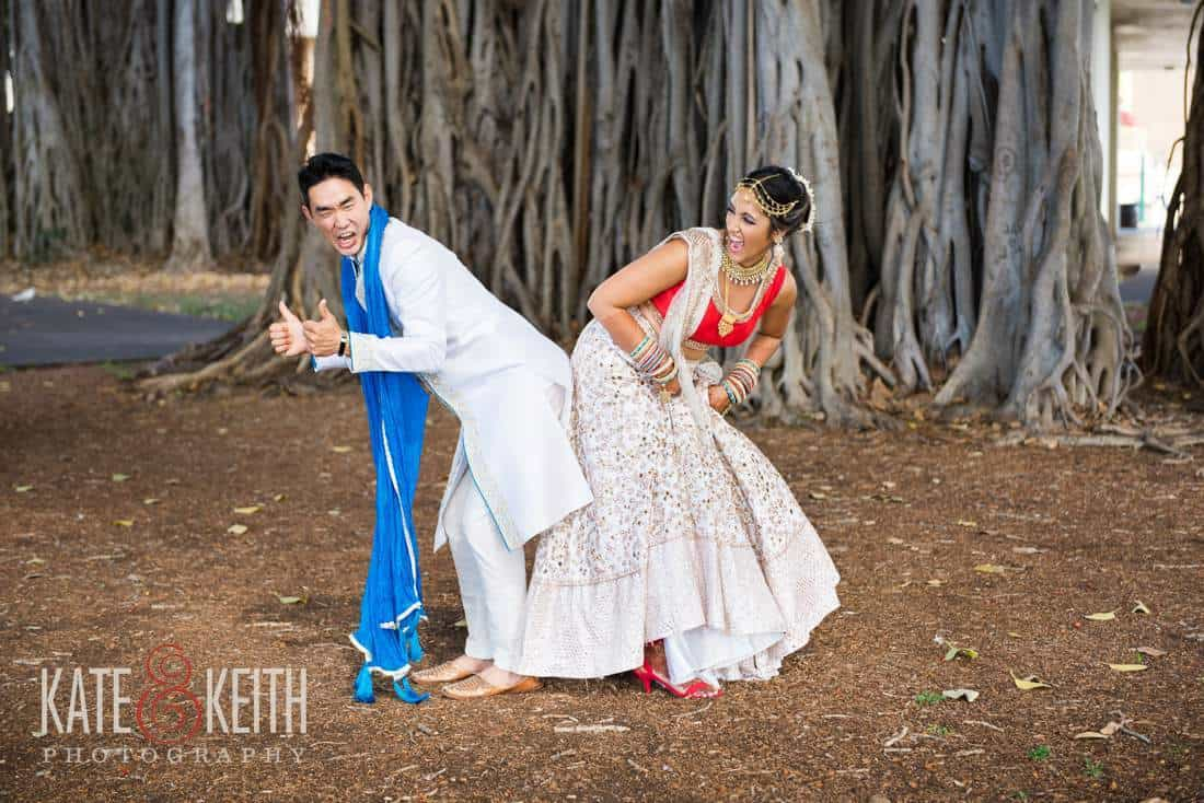 Banyan tree wedding photo