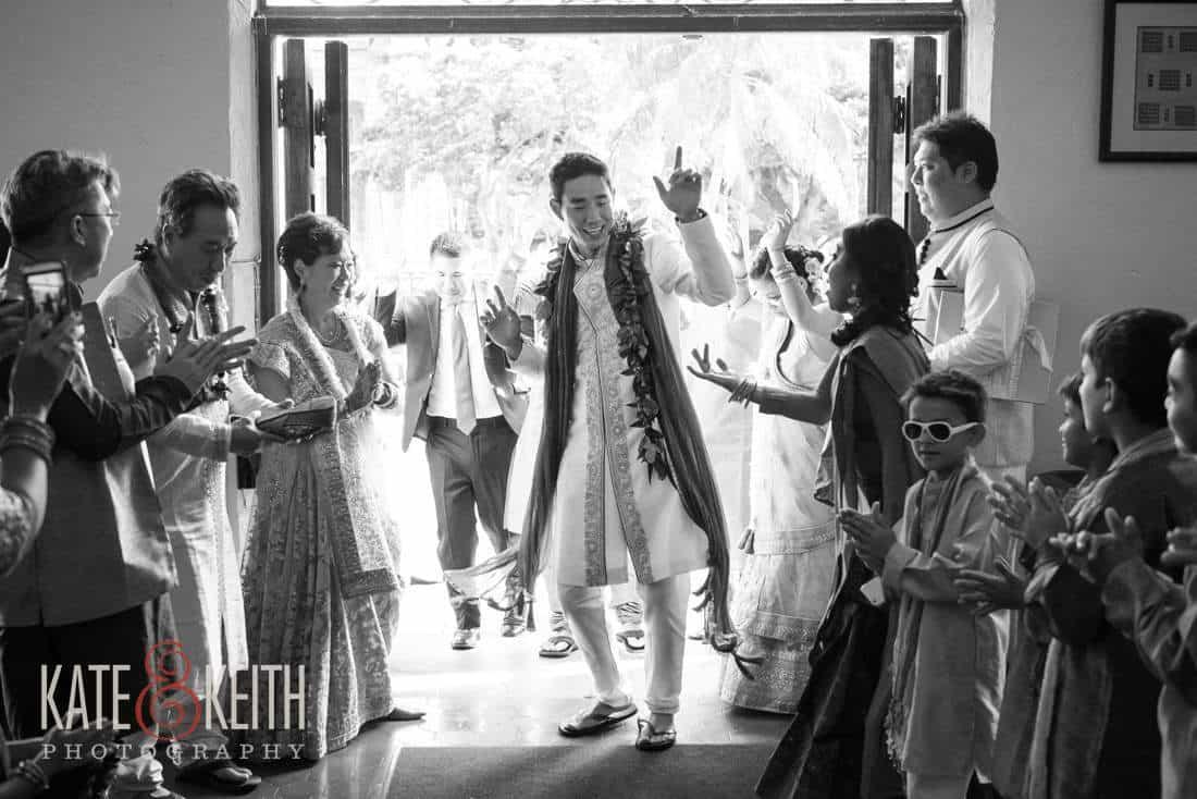 Groom wedding entrance hawaii