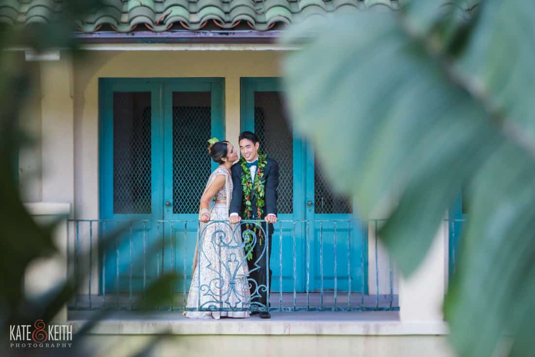 cafe Julia wedding bride and groom
