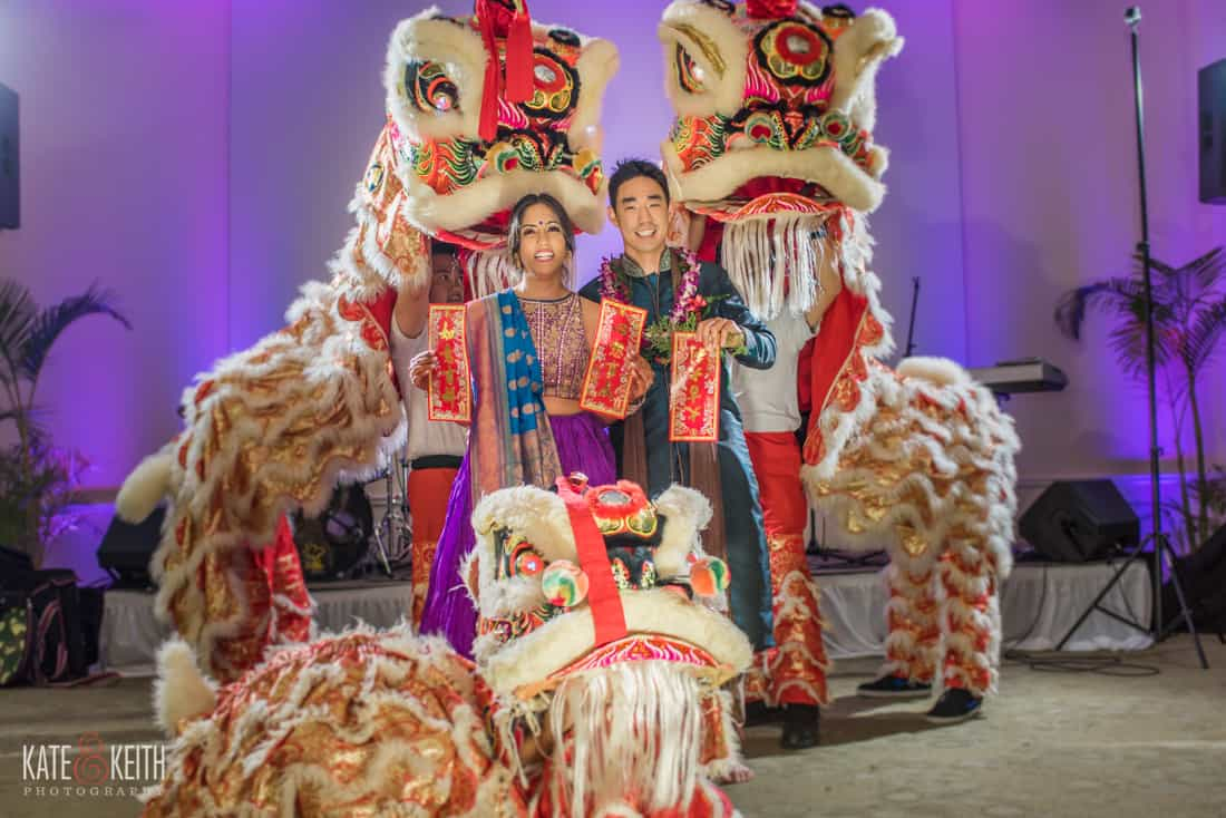 Lion Dance at wedding