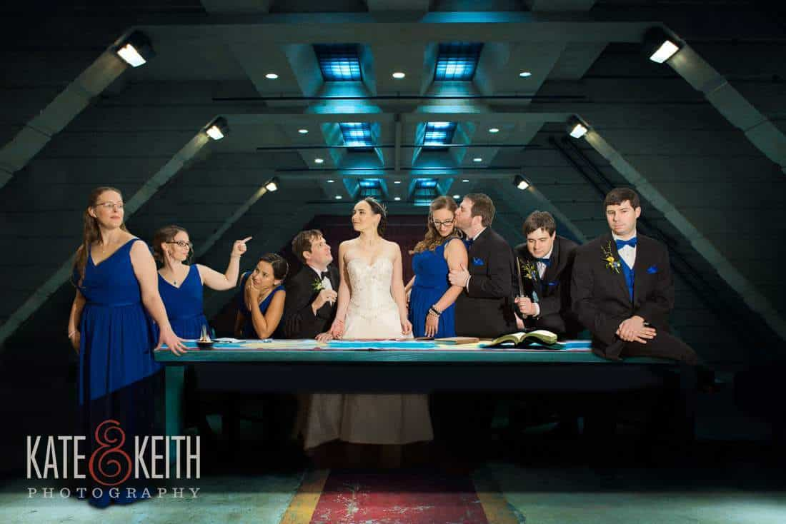 Battlestar Galactica wedding party