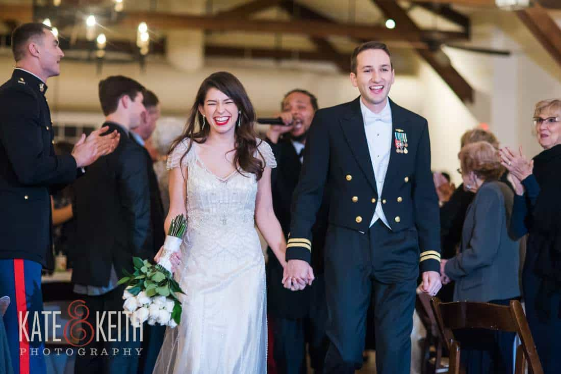 Navy wedding grand entrance