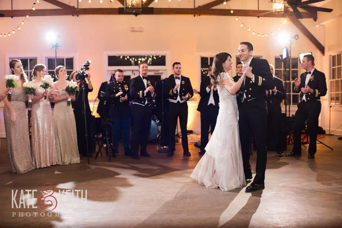 Navy wedding first dance