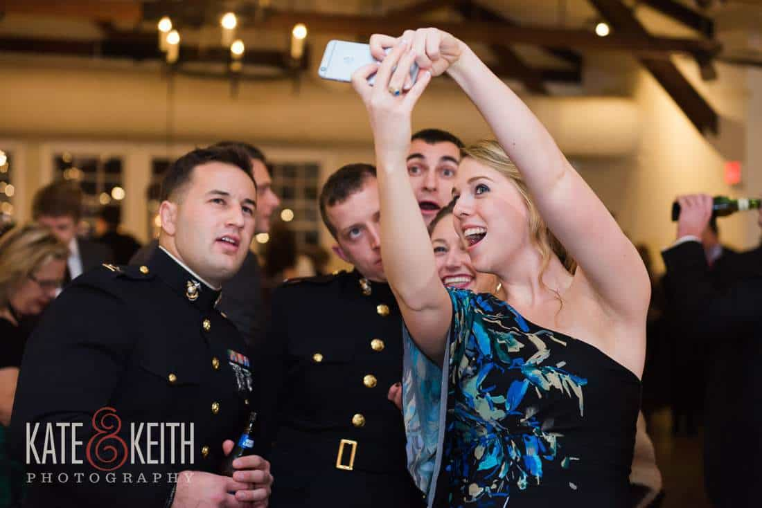 wedding selfie military