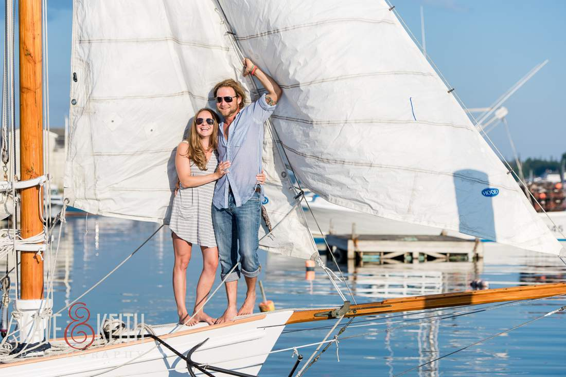 Sailing engagement photos