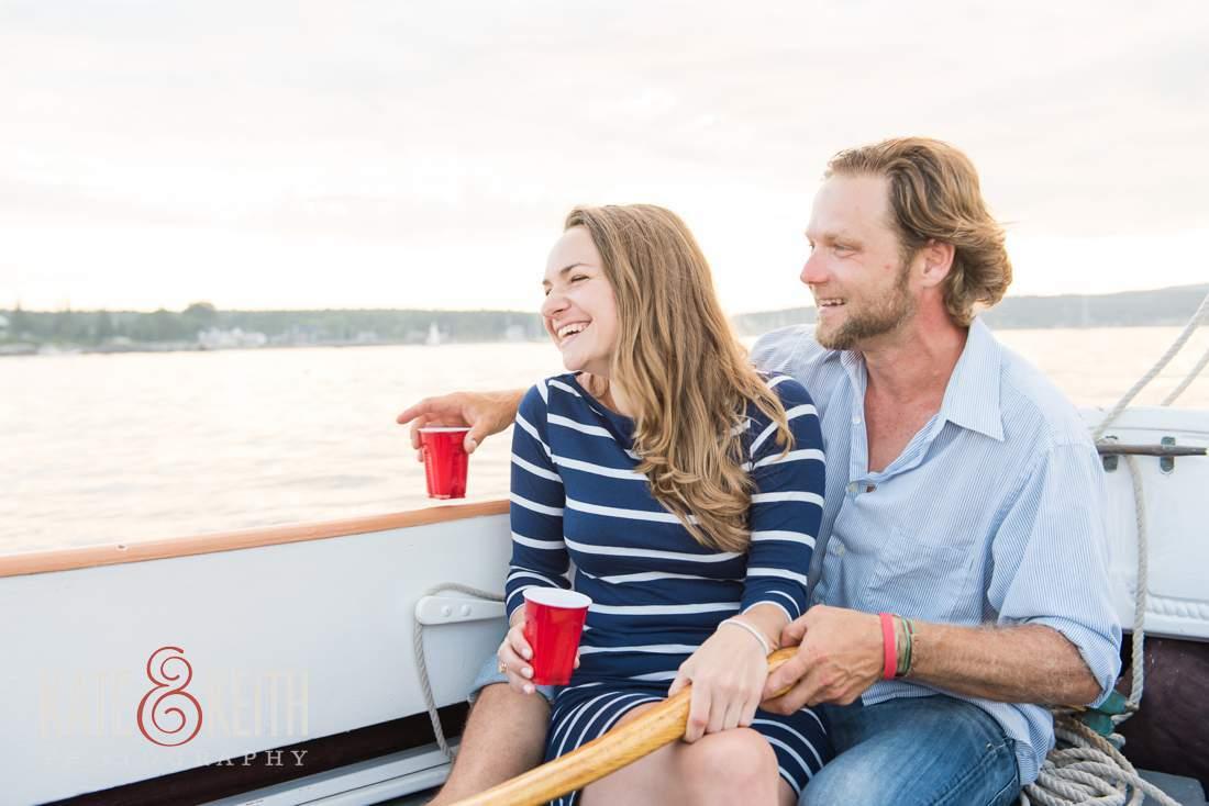Lifestyle Engagement Sailing Photos