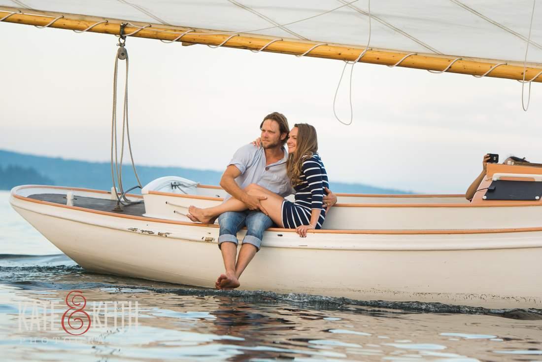 Couple Sailing Romantic Photo