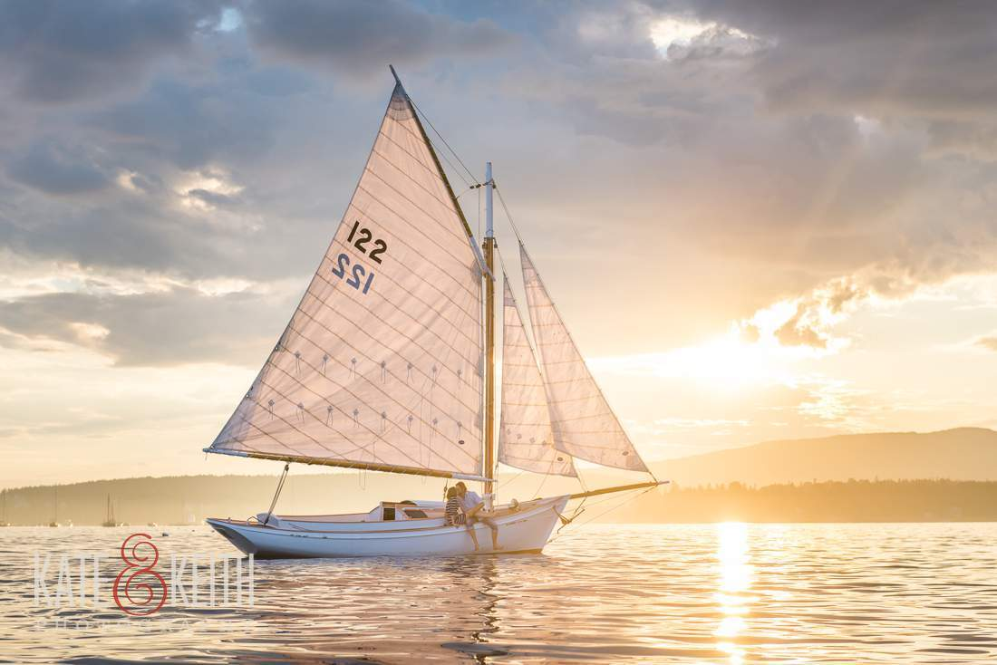 Sunset Sailing Friendship Sloop Picture