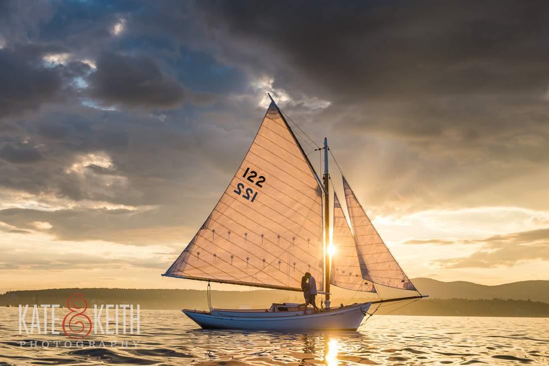 Gorgeous Sunset Sailing Photo Friendship Sloop