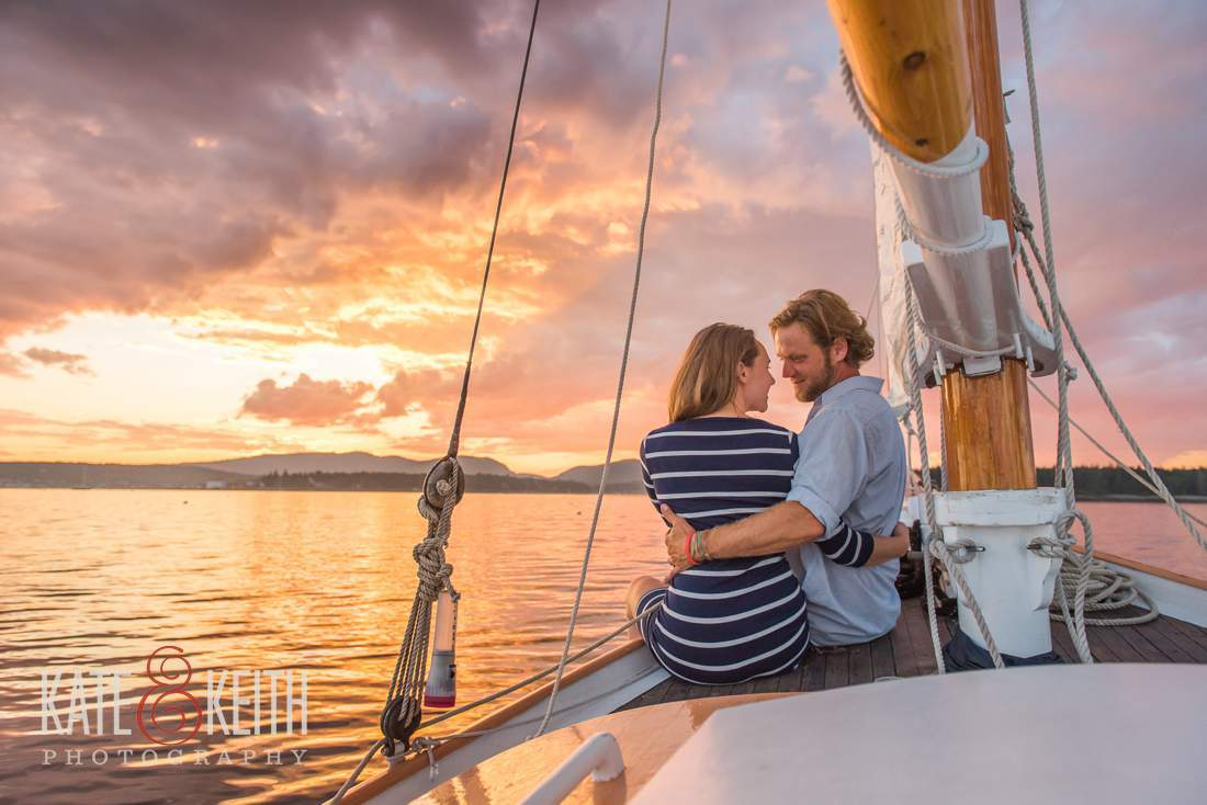 Romantic Adventure Sunset Sailing Photography