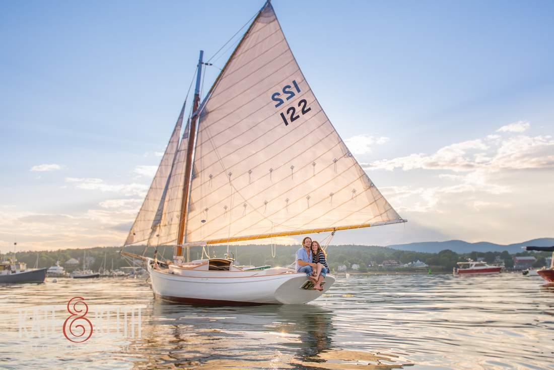 Acadia Sunset Sailing Photography