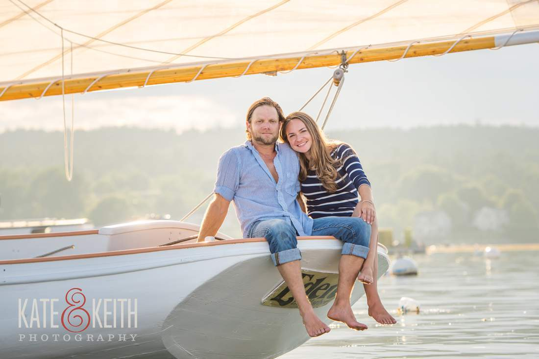 Acadia Sailing Engagement Photos