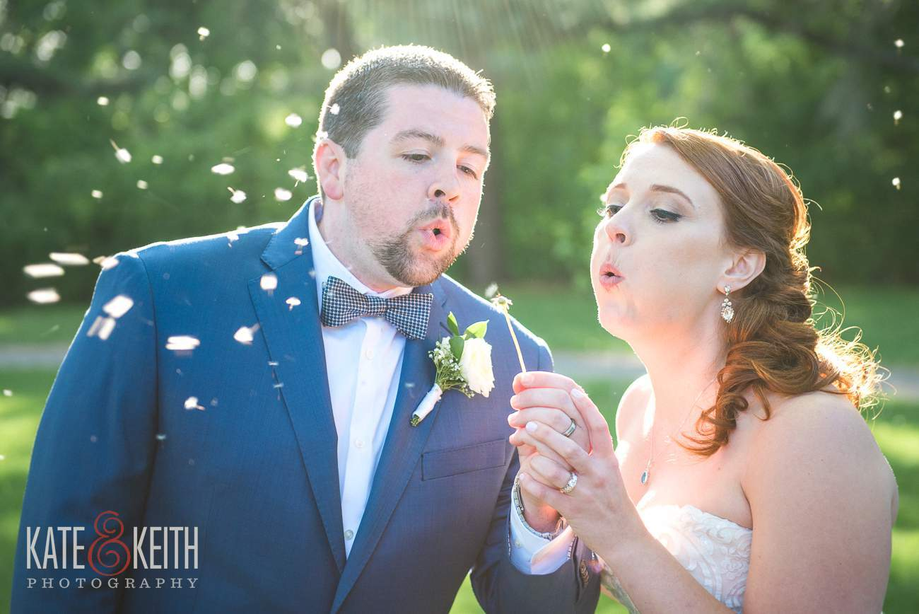 Bride Groom Blow Dandelion