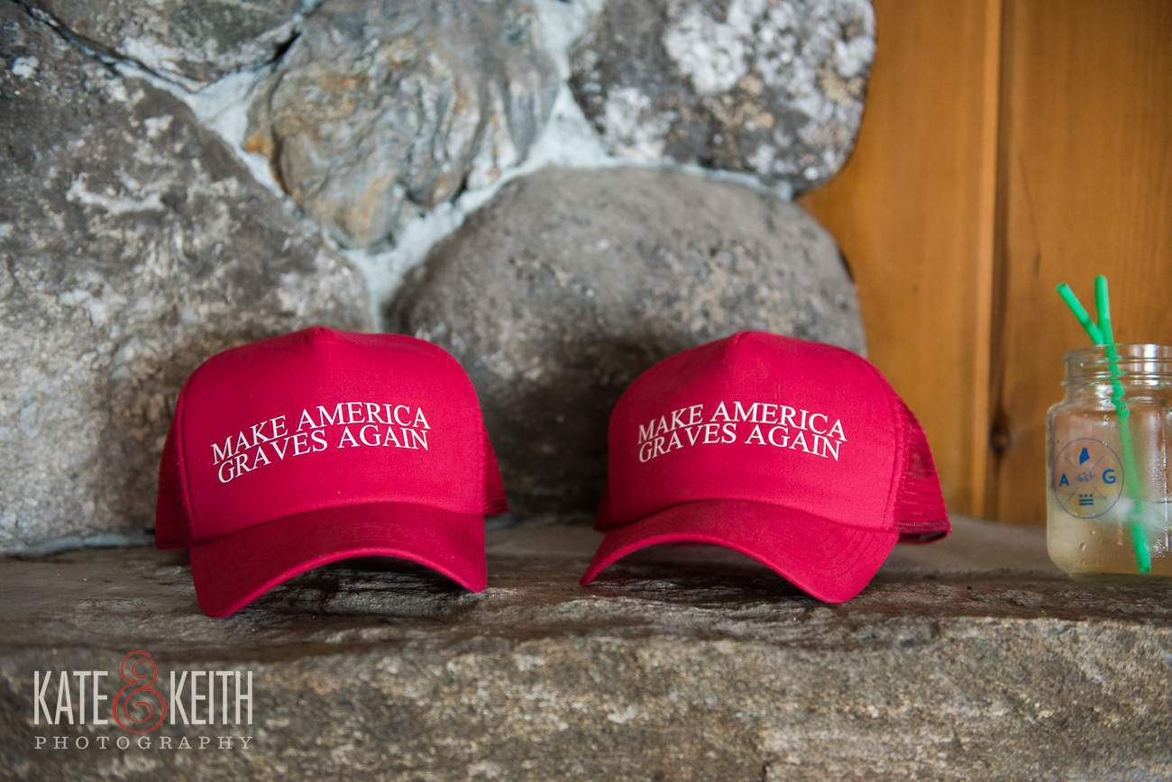 Make America Graves Again Wedding Hats
