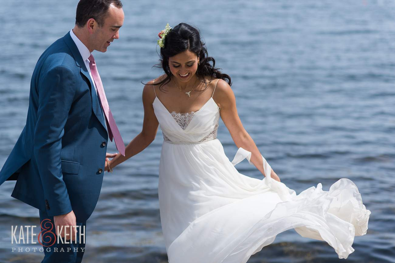 Linekin Bay Resort Wedding First Look Location