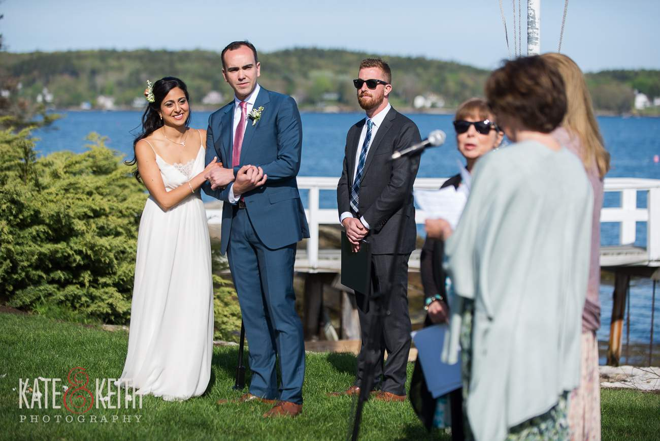 Boothbay Harbor Wedding location on water