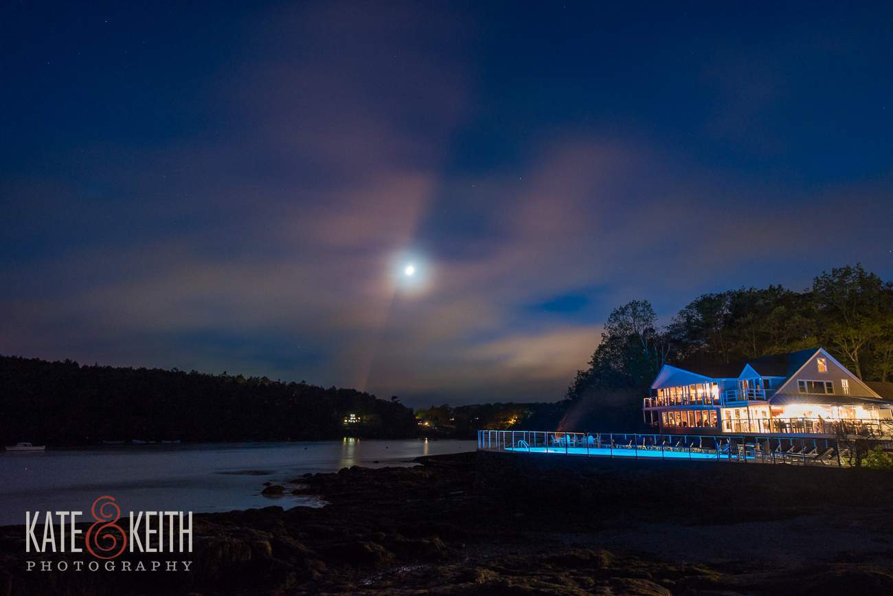 Linekin Bay Resort Wedding Venue Night Photo
