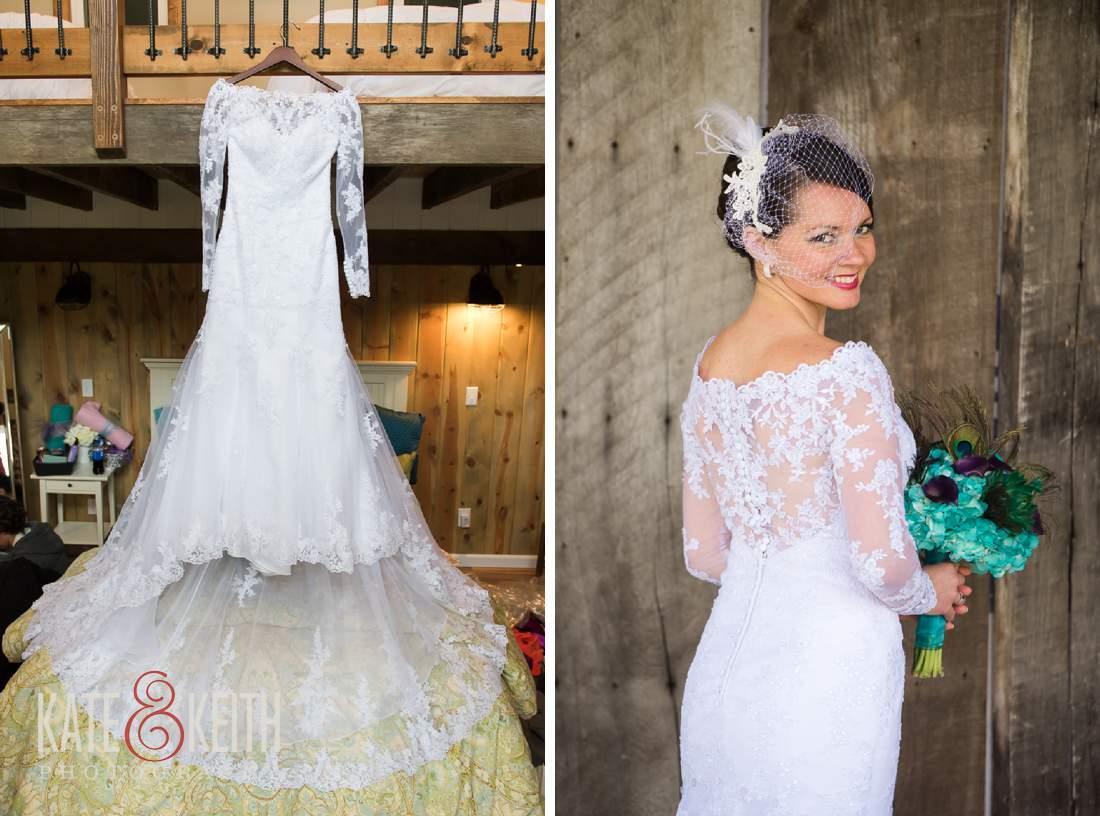 classy barn wedding bride