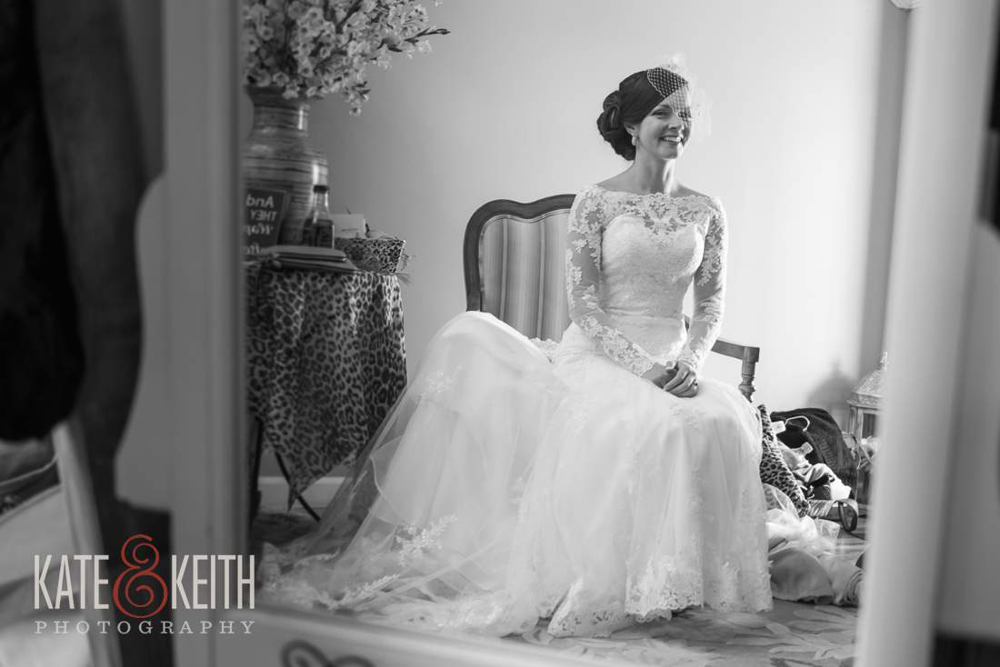 Classic bride black and white photo