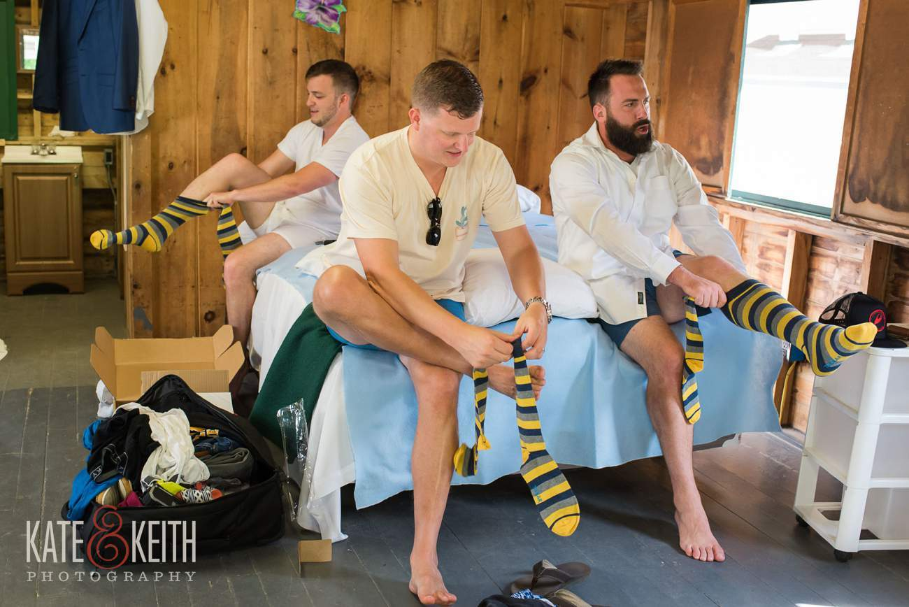Groomsman black and yellow socks