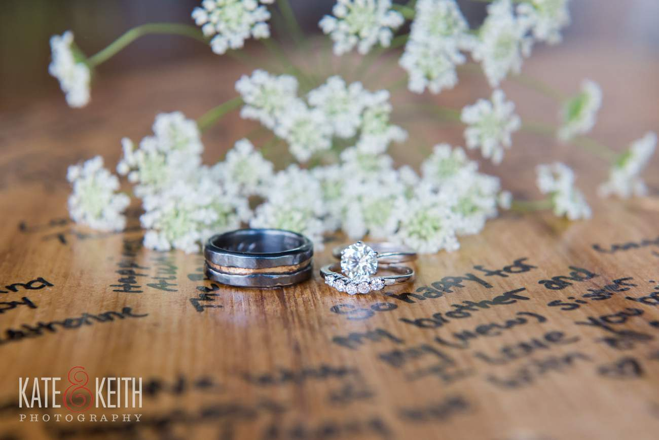 Custom silver wedding rings
