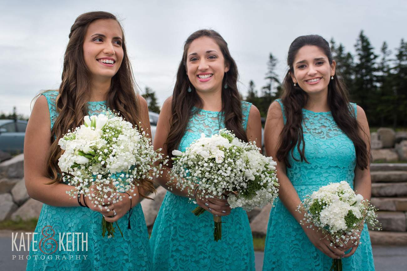 Teal bridesmaid dress bridal party
