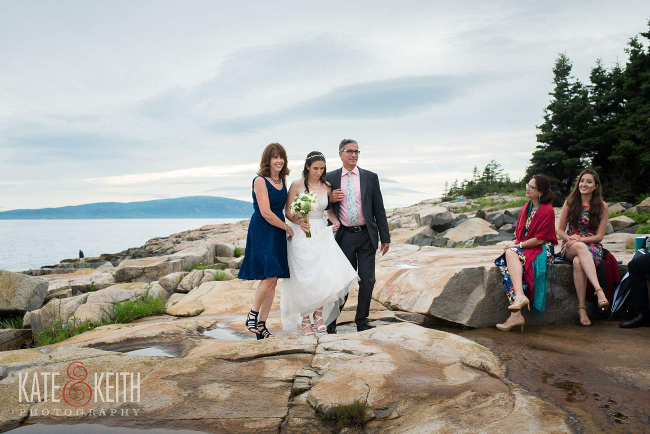 Acadia National Park wedding ceremony