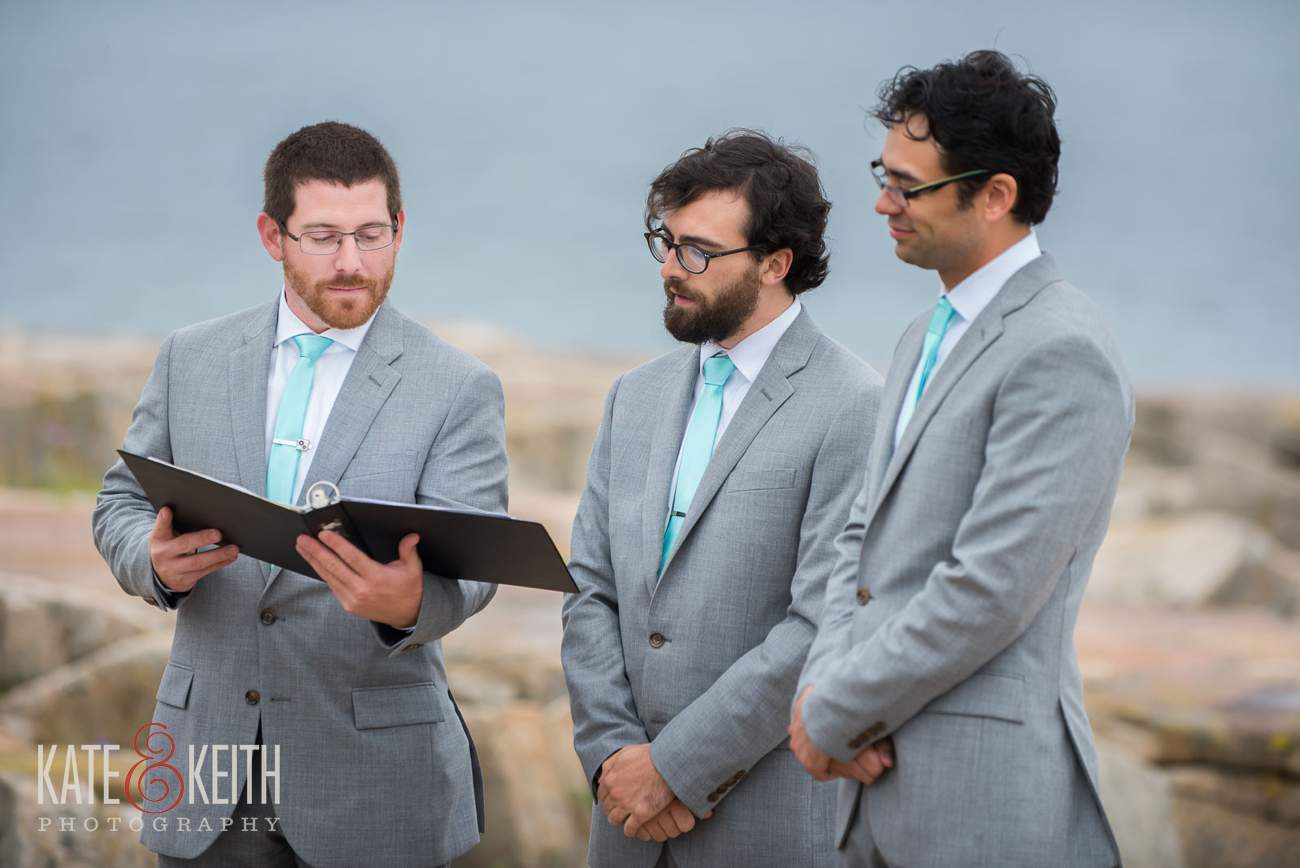 Teal Wedding Party Groomsmen