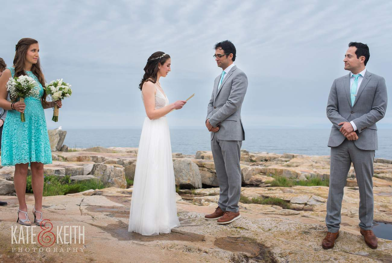 Schoodic Point Wedding Ceremony