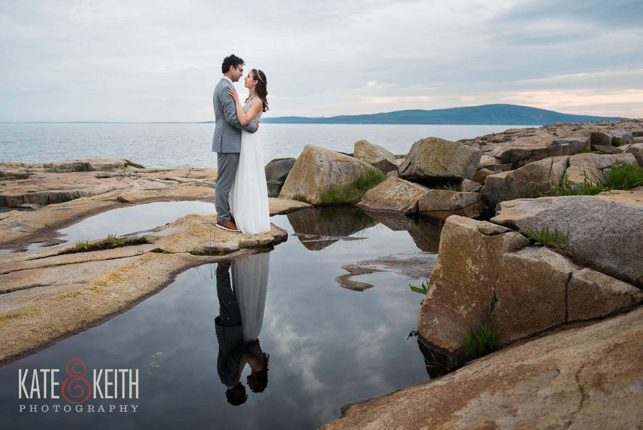 Wedding Portraits Acadia National Park