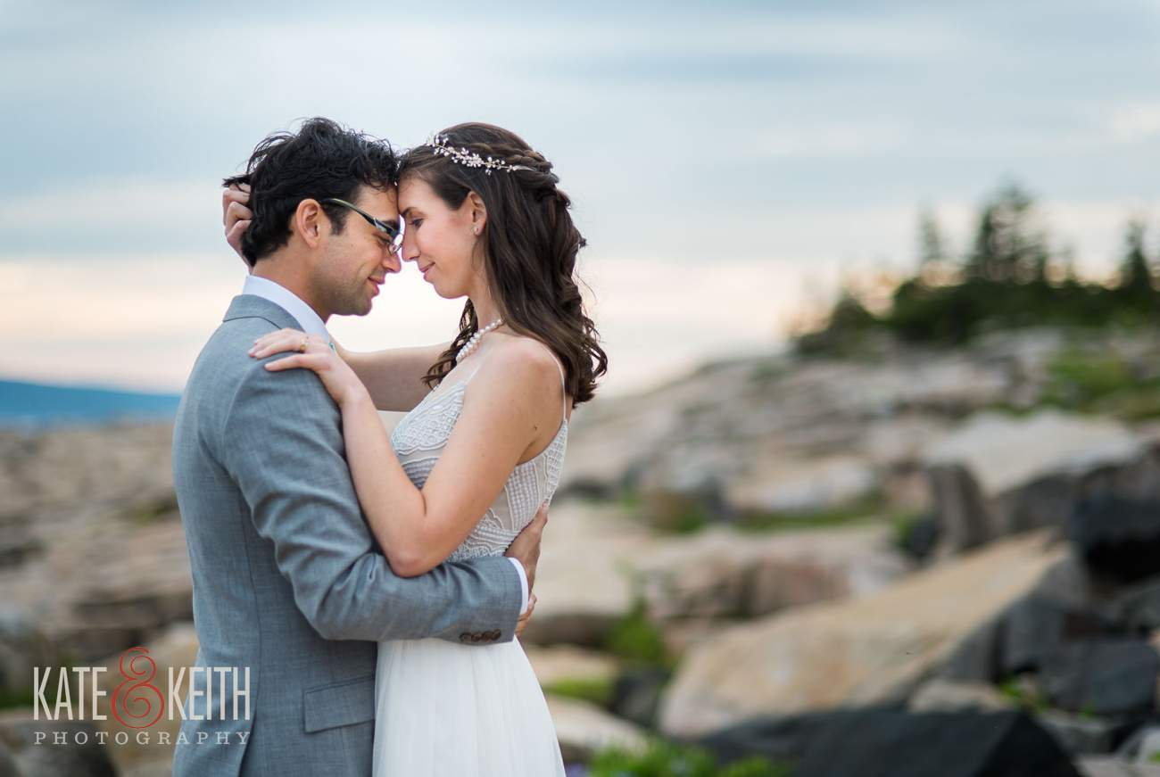Candid Wedding Portraits Acadia National Park