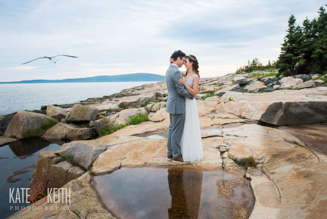 Candid Wedding Photos Acadia National Park Schoodic Peninsula