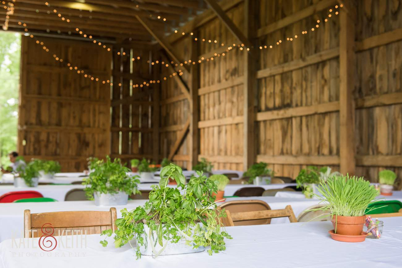 Farm wedding table center piece ideas