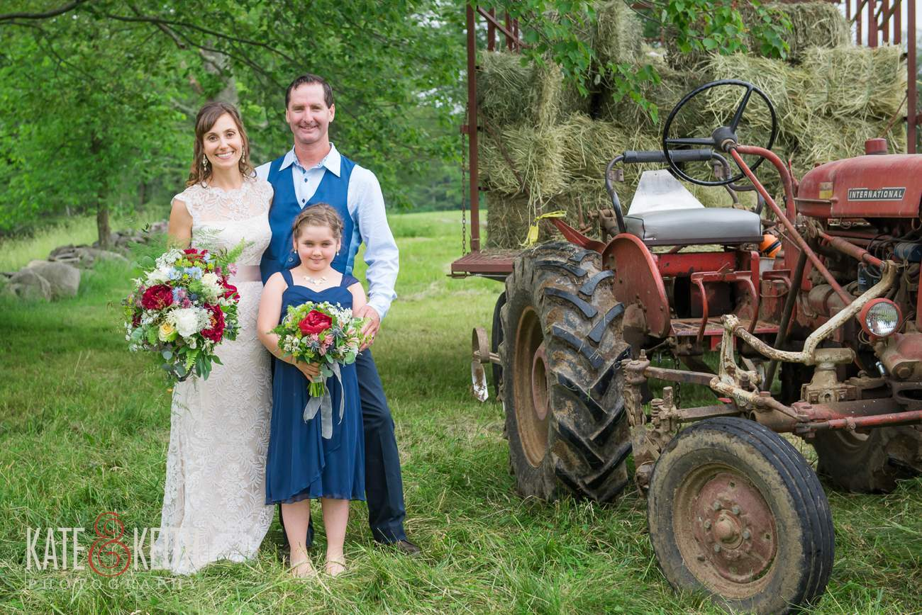 Real working farm wedding NH