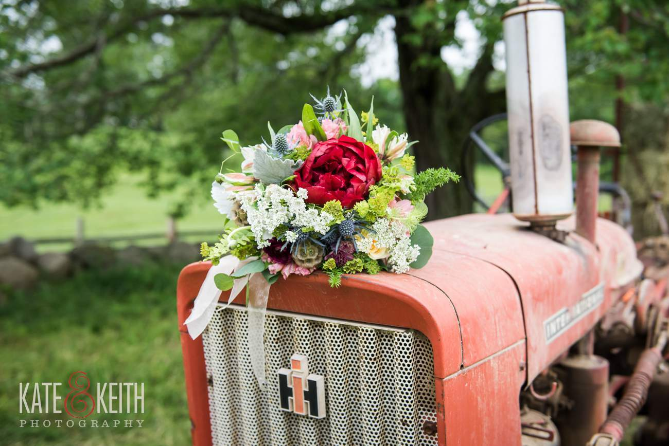 Real working farm wedding in New Hampshire