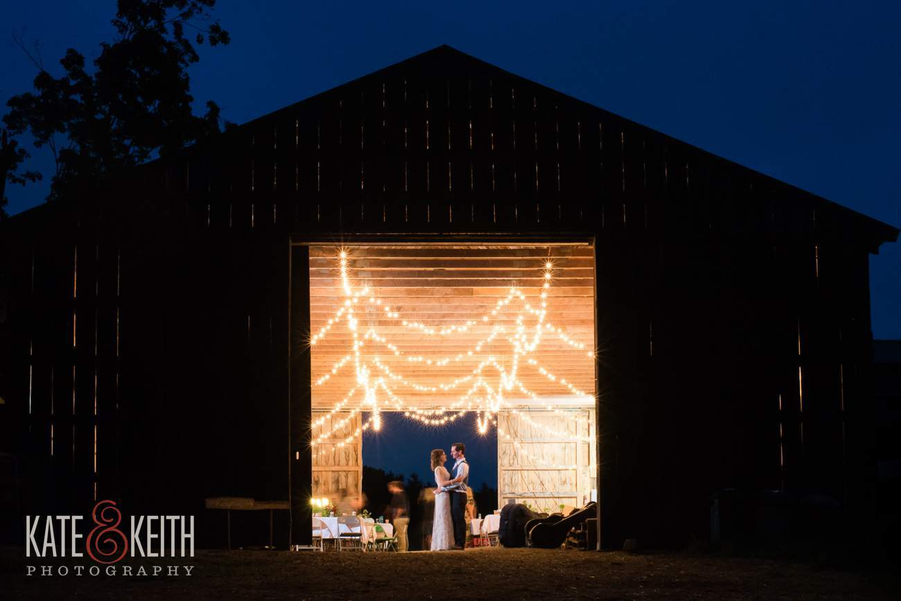 Real working barn wedding reception