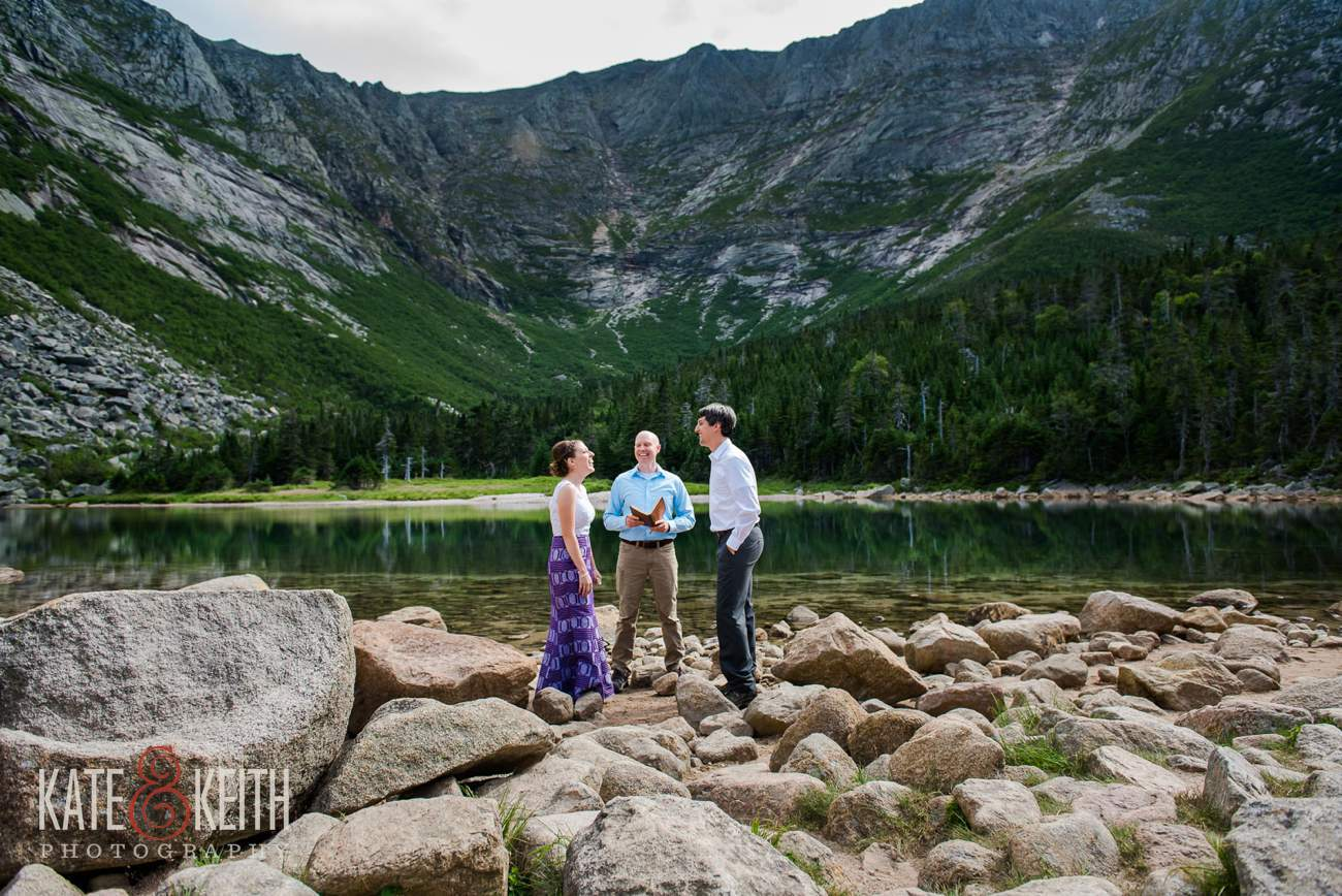 Chimney Pond wedding ceremony location