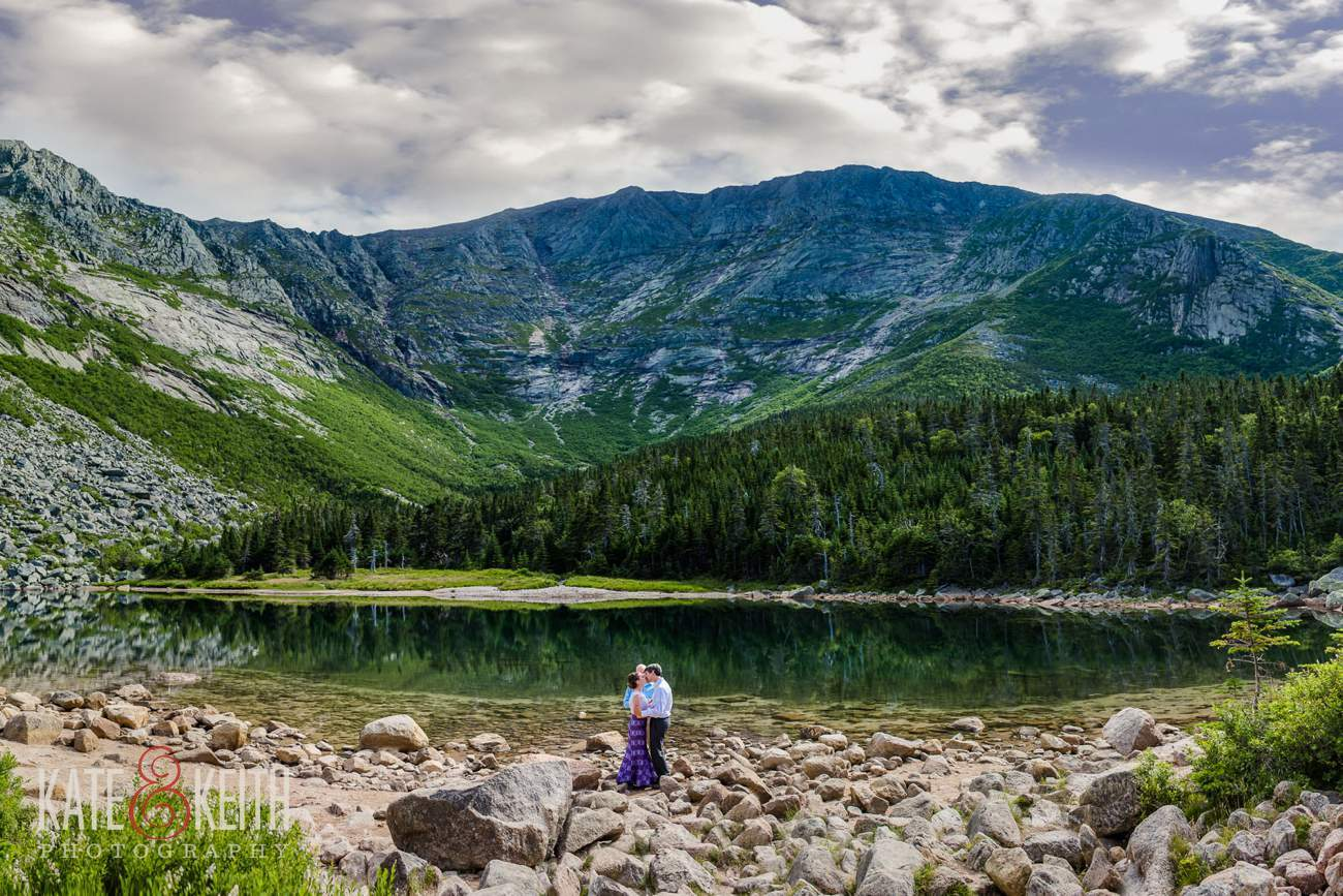 Baxter State Park elopement photo Katahdin