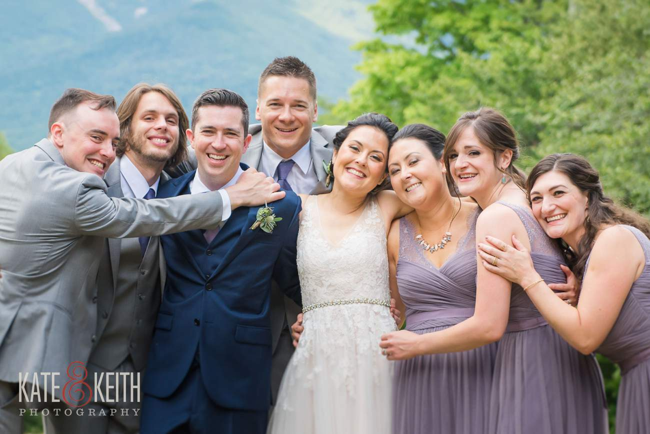 Natural looking wedding photography