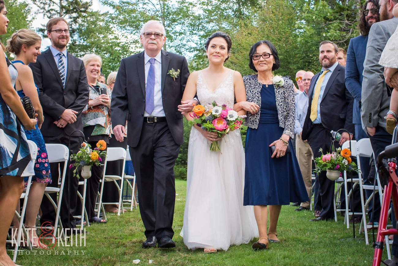 Outdoor ceremony Waterville Valley Resort New Hampshire