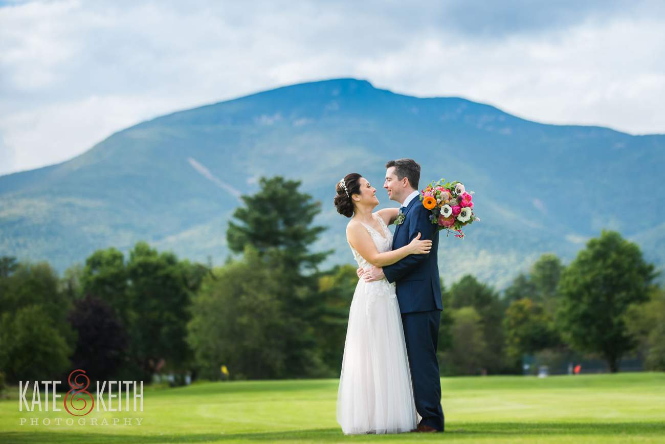 Waterville Valley Resort wedding golf course portrait