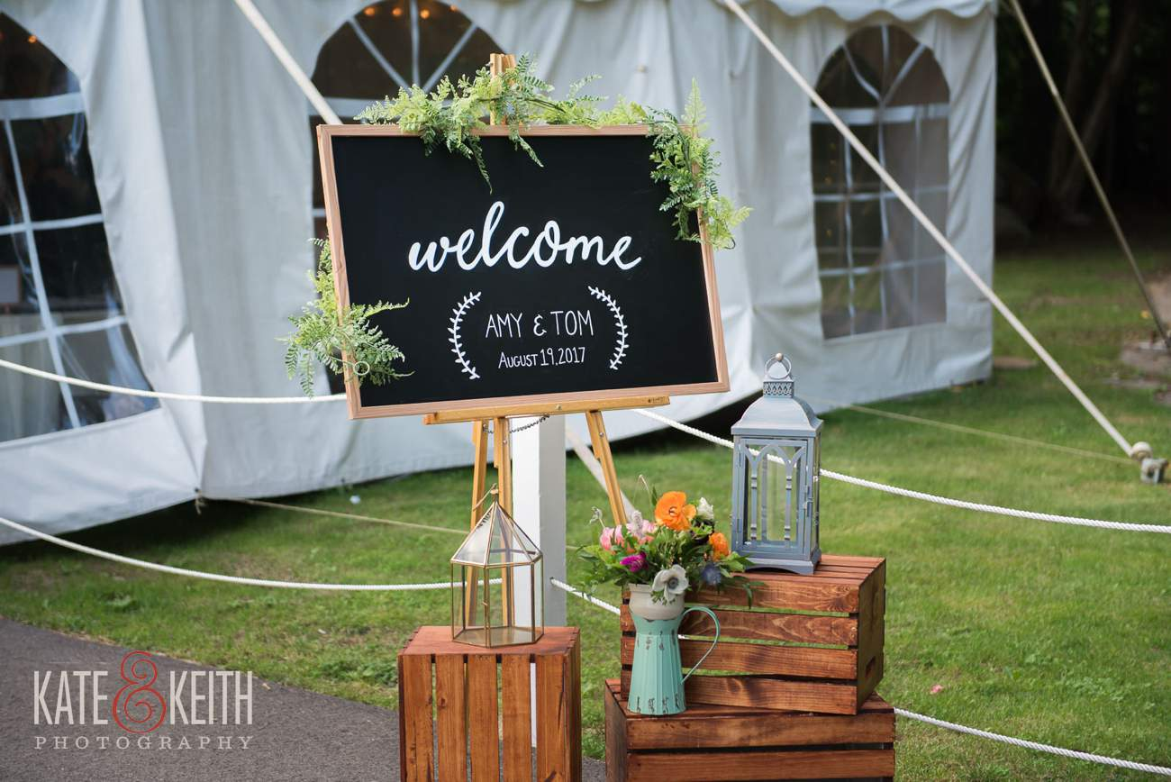 Waterville Valley wedding tent reception