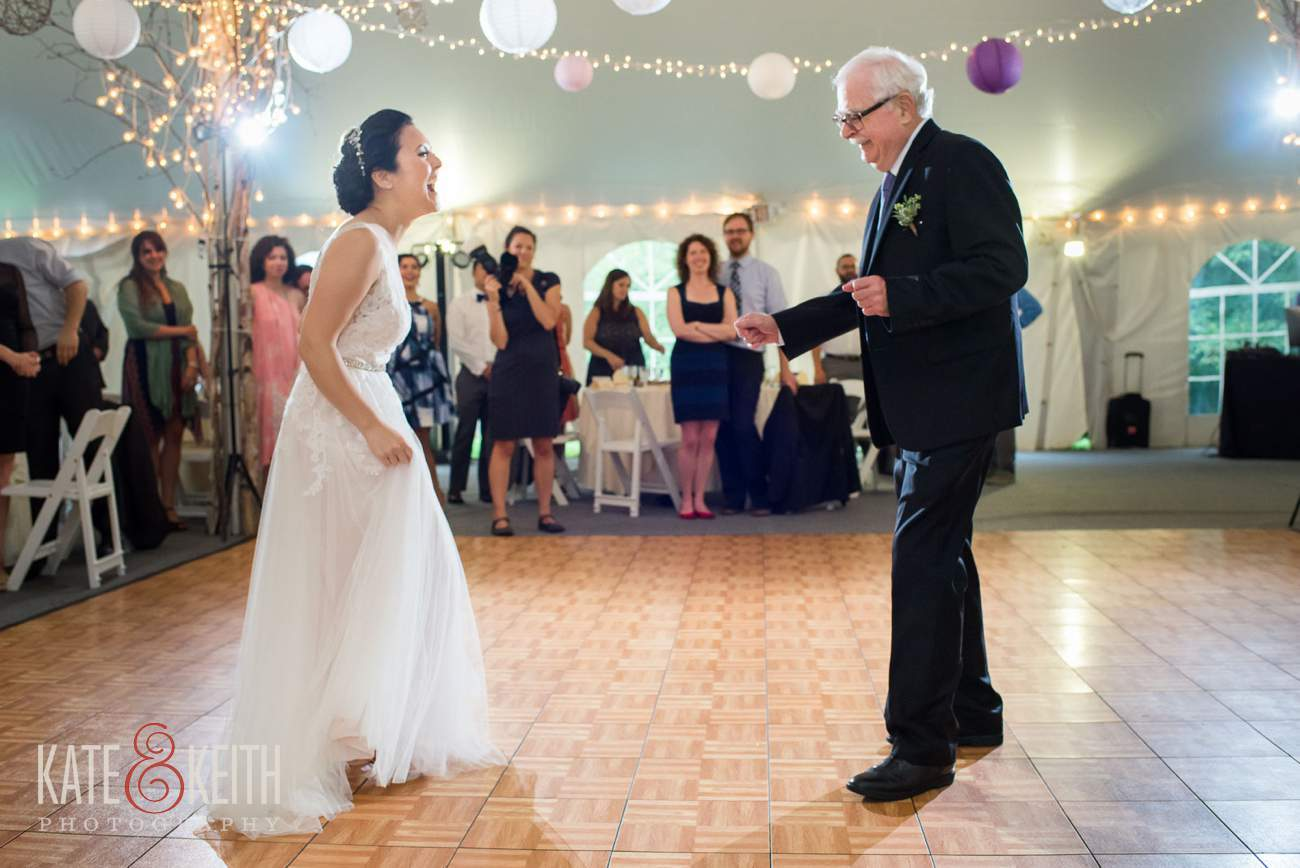 Father daughter dance Waterville Valley Resort wedding