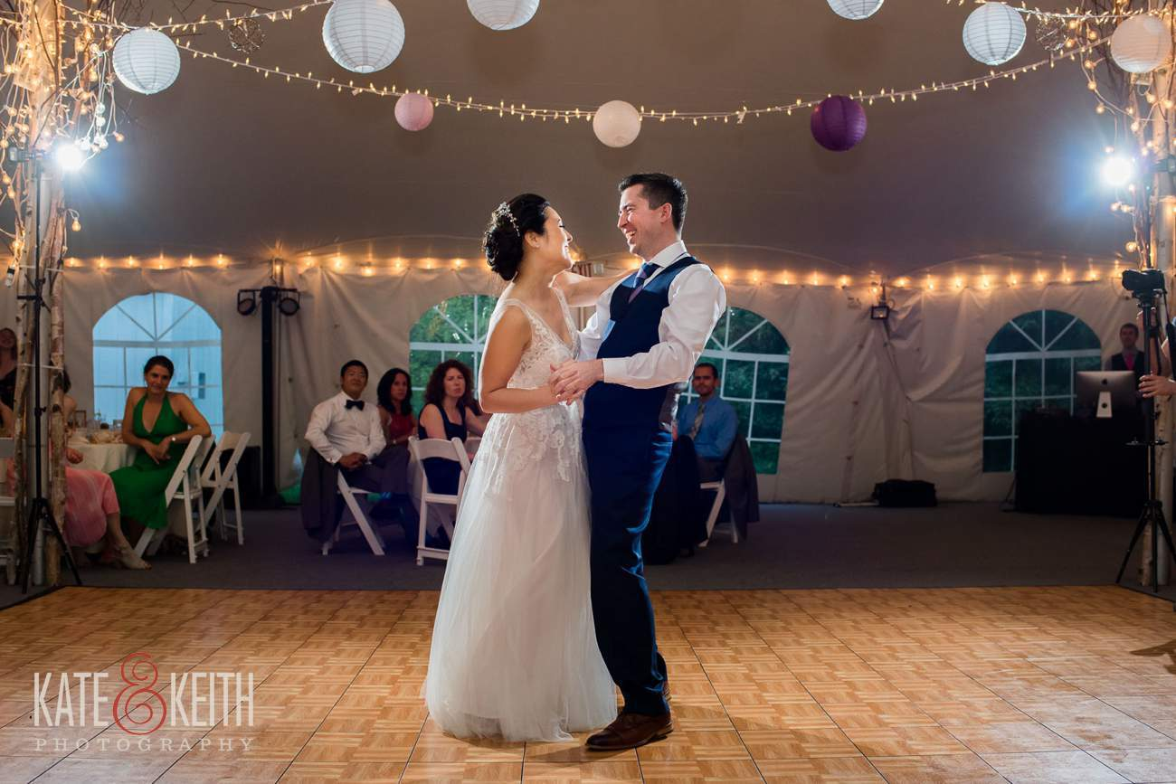Waterville Valley Resort tent reception first dance